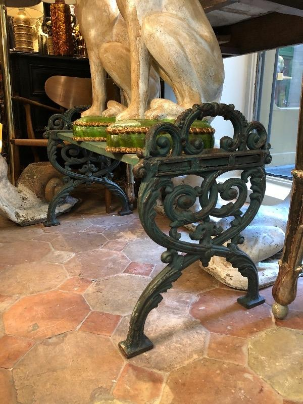 Cast iron bench circa 1900