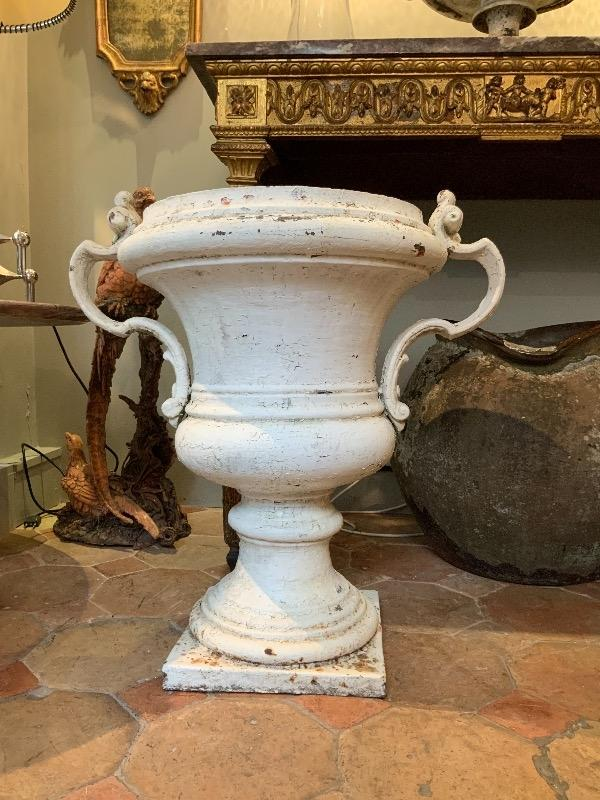 Cast iron urn early 19th c