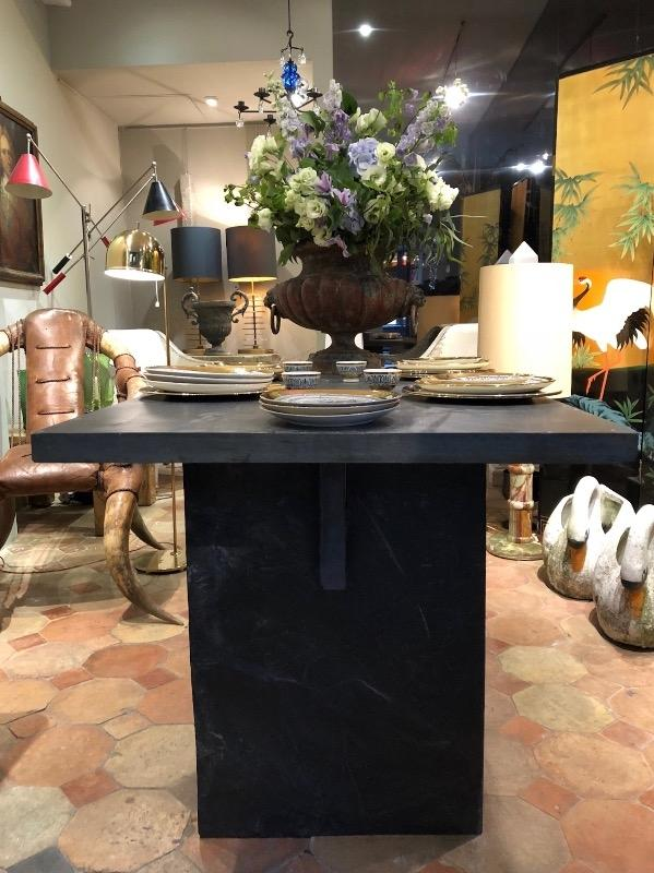 Massive slate table