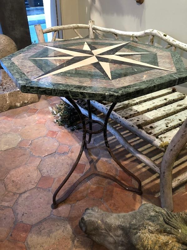 Nice marble table with iron base