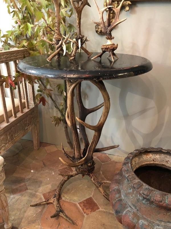 Nice table with antlers XIX th c from Rosa Bonheur house
