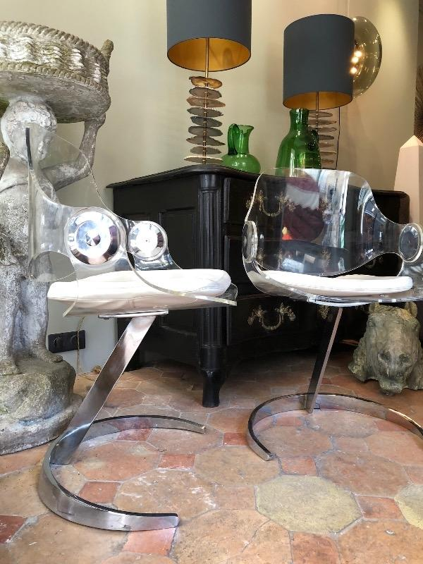 Pair of Boris Tabacoff chairs circa 1960