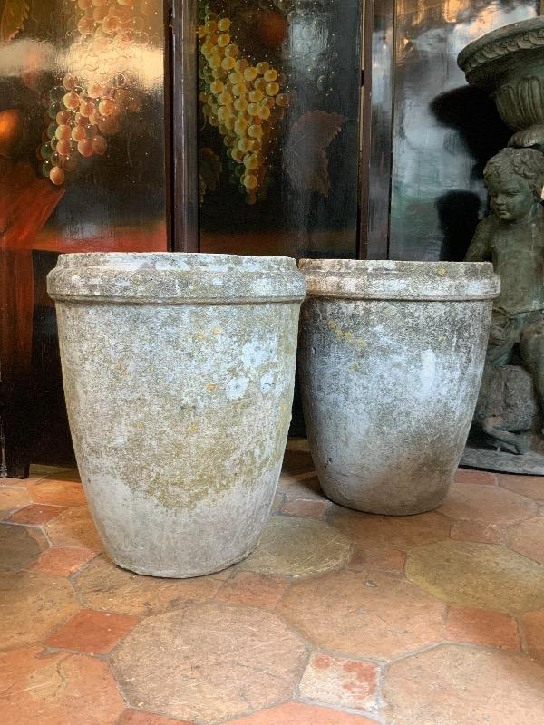Pair of cement planters circa 1960