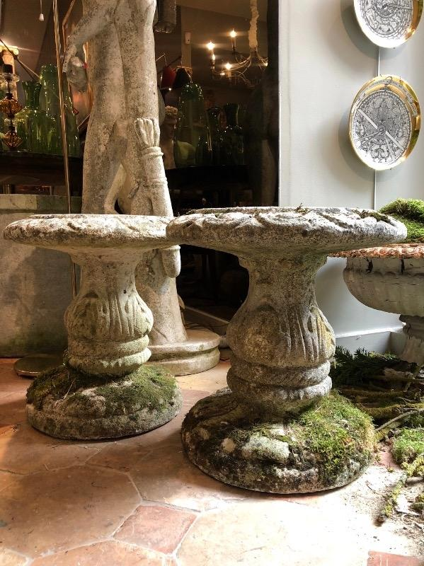 Pair of cement stools circa 1950
