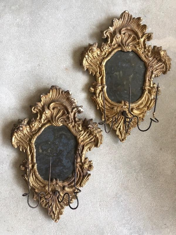 Pair of Italian sconces 18th c