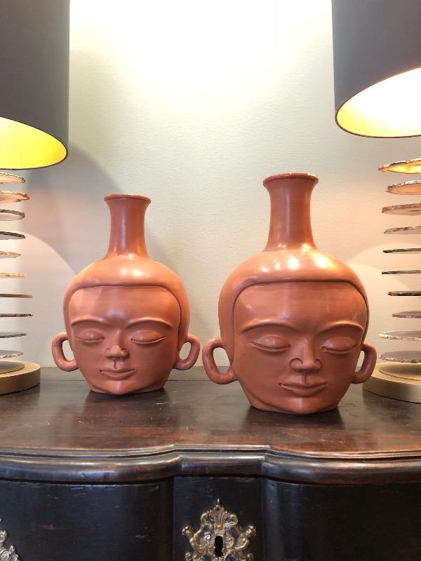 Rare pair of Jean Marais vases